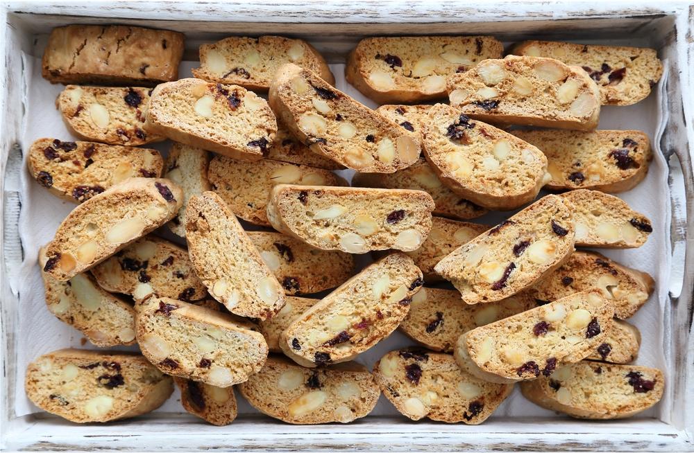 recette de biscottis aux amandes  u0026 canneberges selon bob