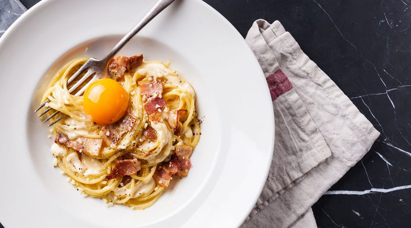 Spaghettinis à la carbonara