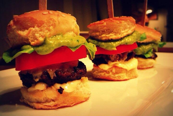 (mini) Burgers avec émulsion asperges et origan