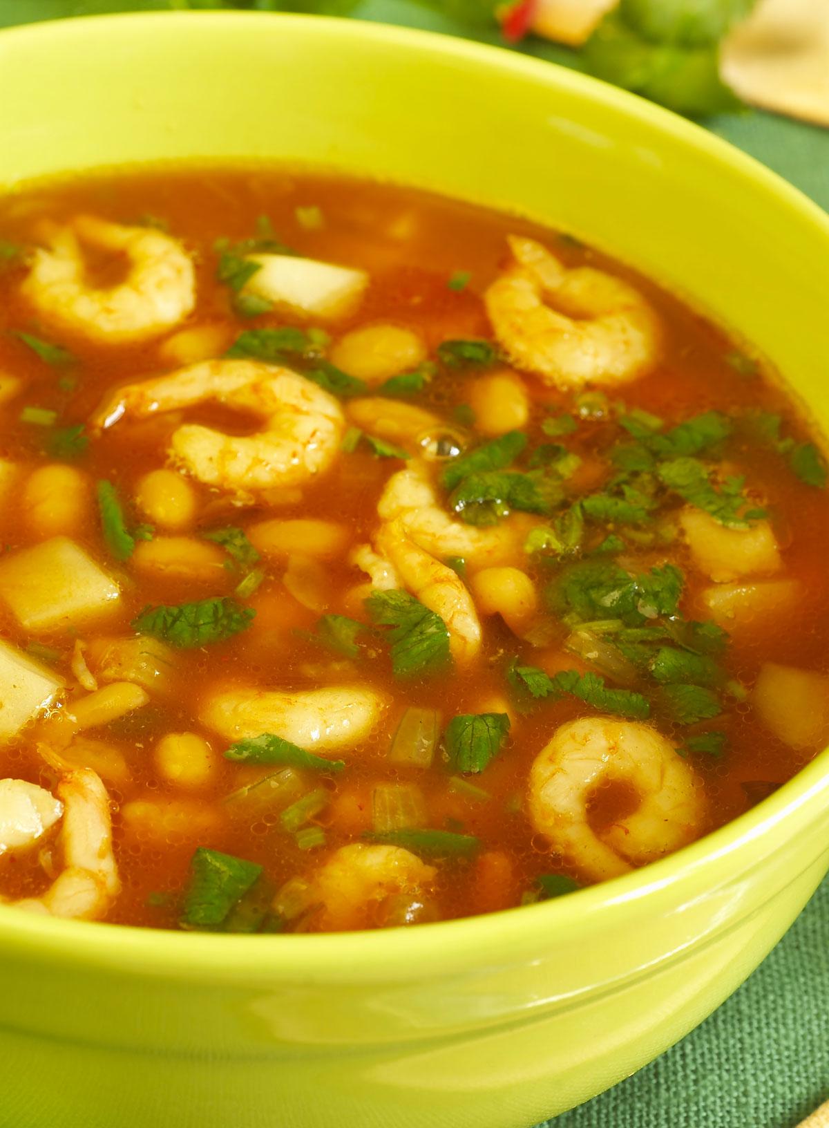 Recette soupe aux crevettes style tha glouton - Peut on congeler de la soupe ...