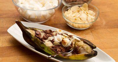 Banane farcie aux S'mores sur le BBQ