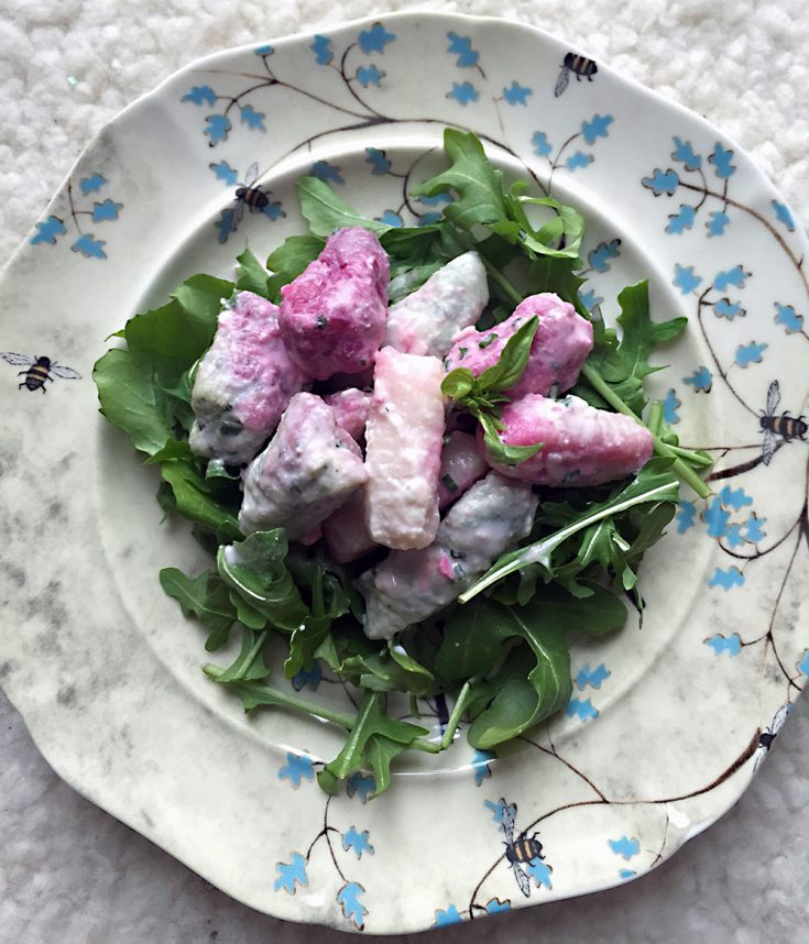 Salade de gnocchis 3 couleurs