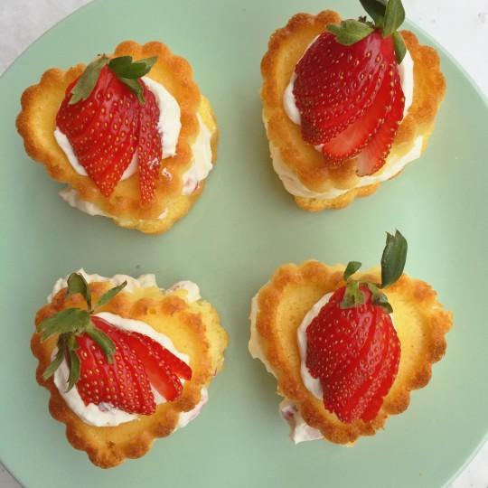 Short-cupcakes aux fraises