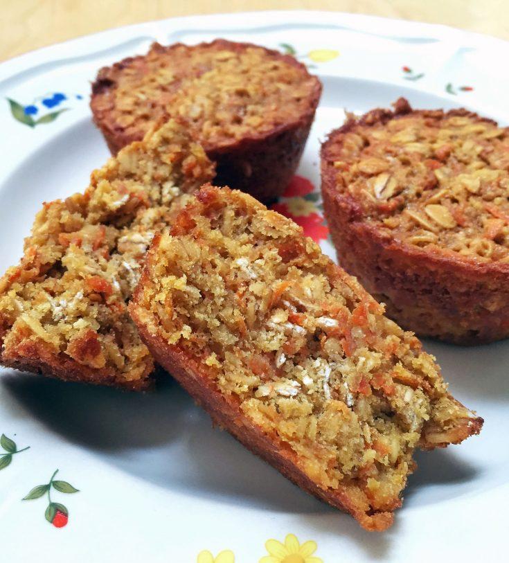 Muffins aux carottes et avoine