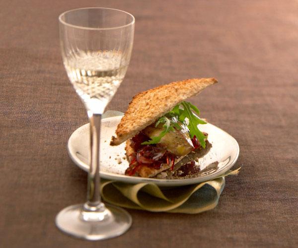 Club sandwich au foie gras