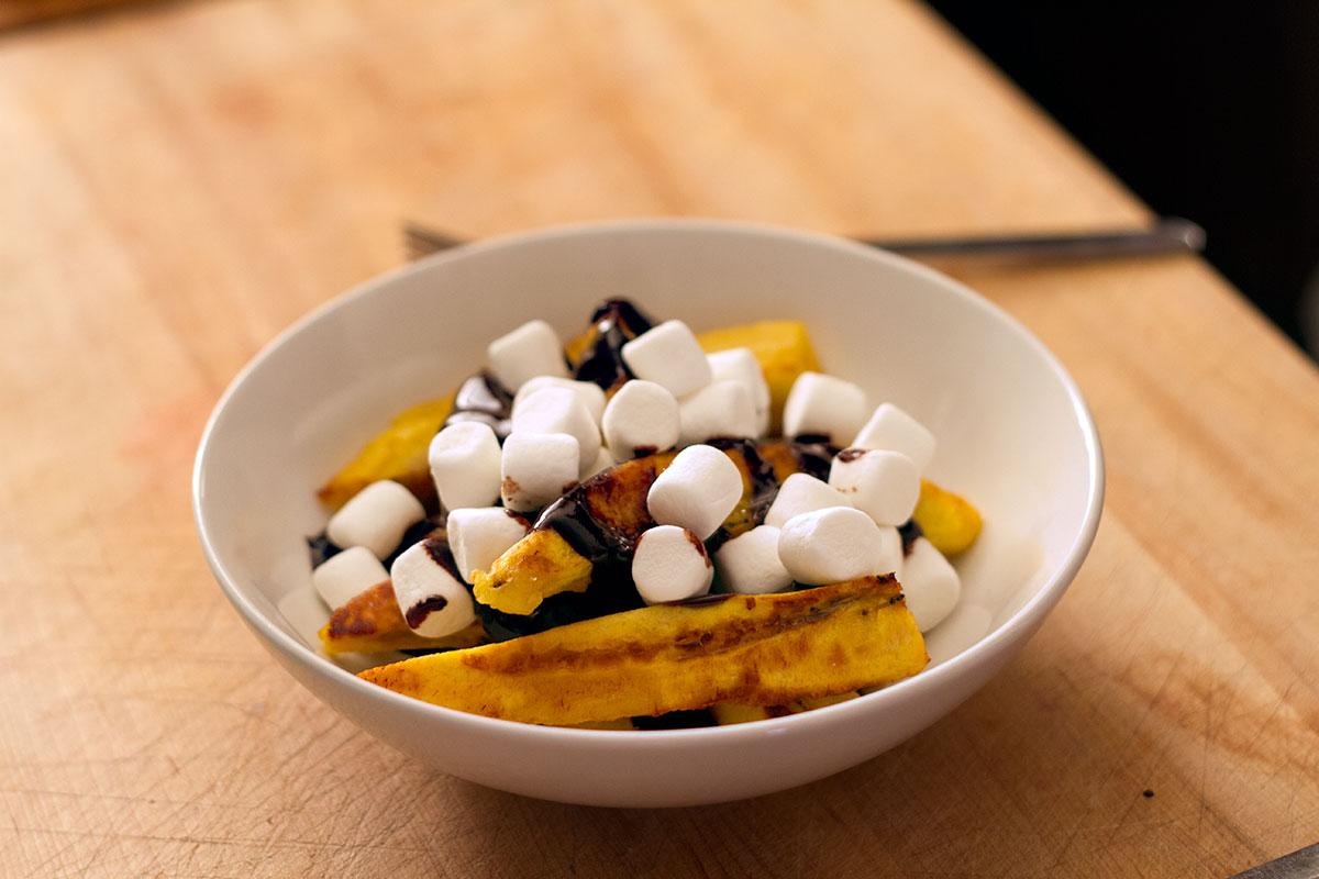 poutine dessert au plantain