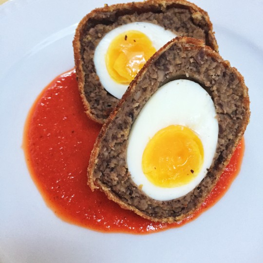 Oeufs écossais (scotch eggs) végétariens