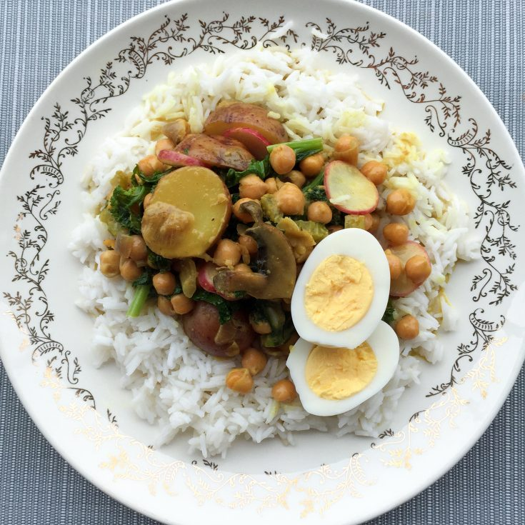 "Curry végé aux ""restants"""