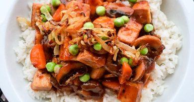Tofu bourguignon