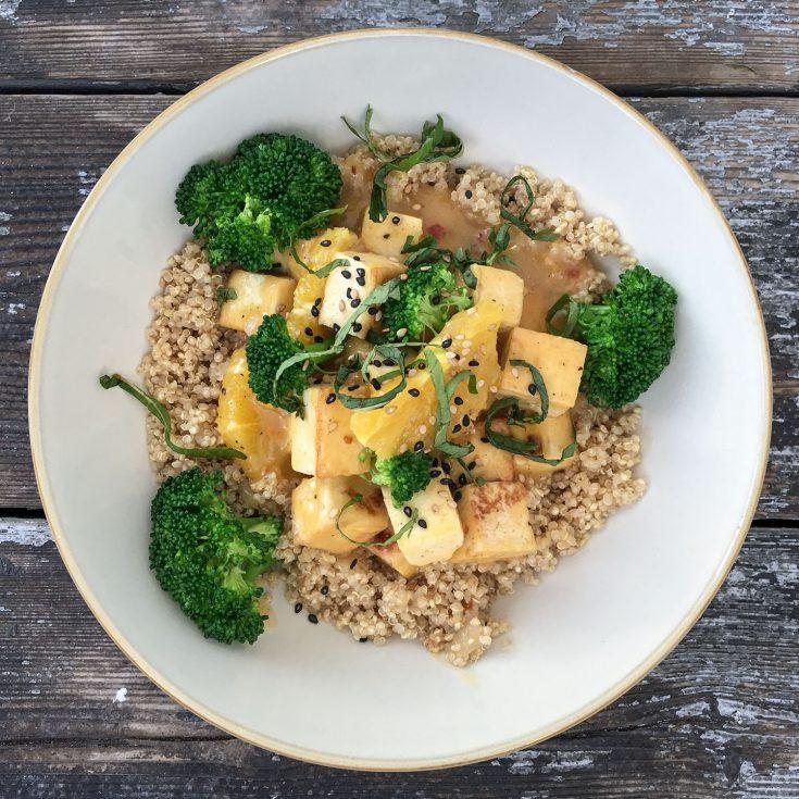 Tofu à l'orange