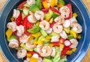 Salade estivale de crevettes