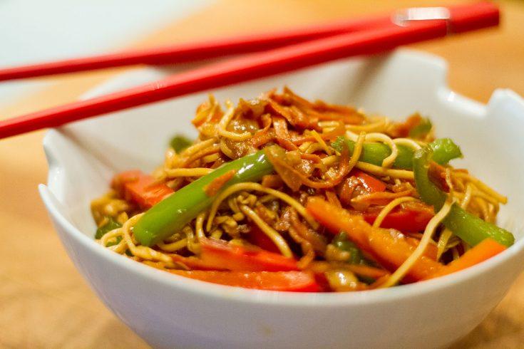 Nouilles asiatiques selon huile_smith