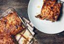 Lasagne à l'aubergine frite