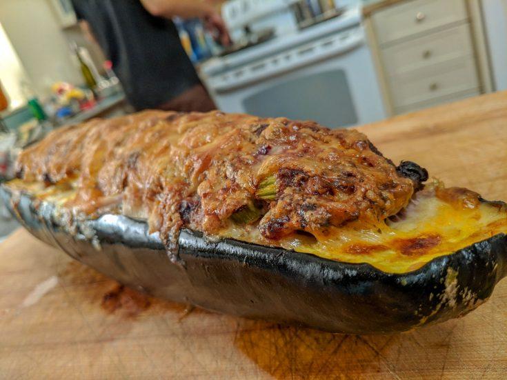 Courge géante farcie au porc & chair de saucisse
