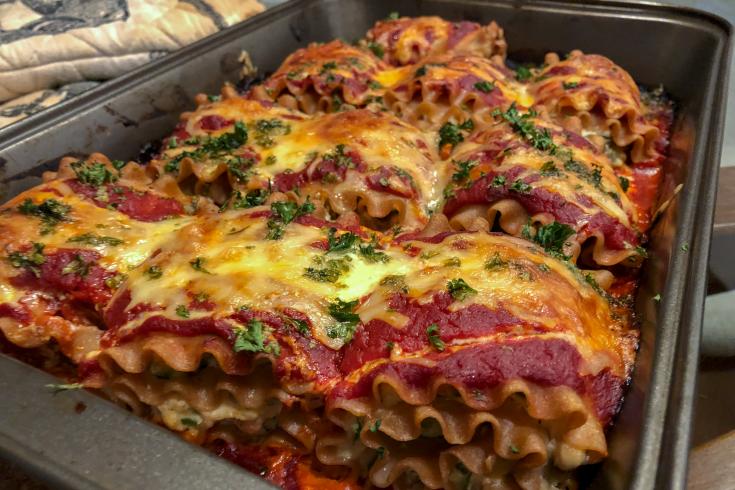 Roulade de lasagne aux légumes
