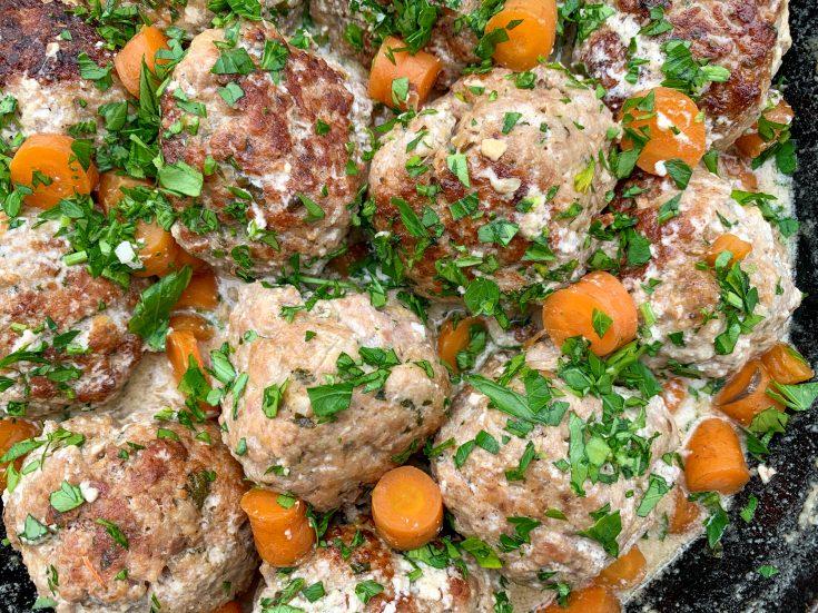 Boulettes de porc à la crème (boulettes suédoises)
