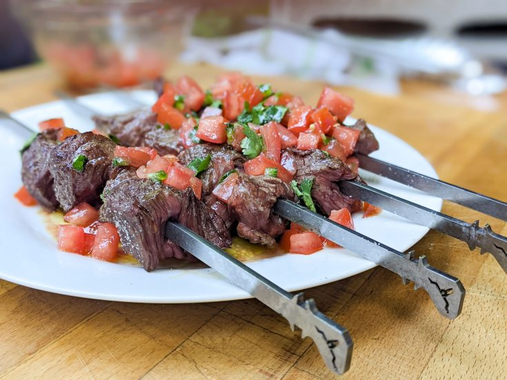 Brochettes de bœuf avec marinade inversée